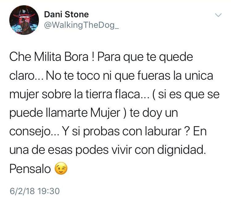El violento mensaje de Daniel Osvaldo a Militta Bora que después borró