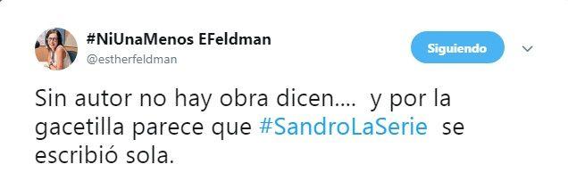 Escándalo y denuncia en la presentación de la serie de Sandro: se olvidaron de invitar a los autores
