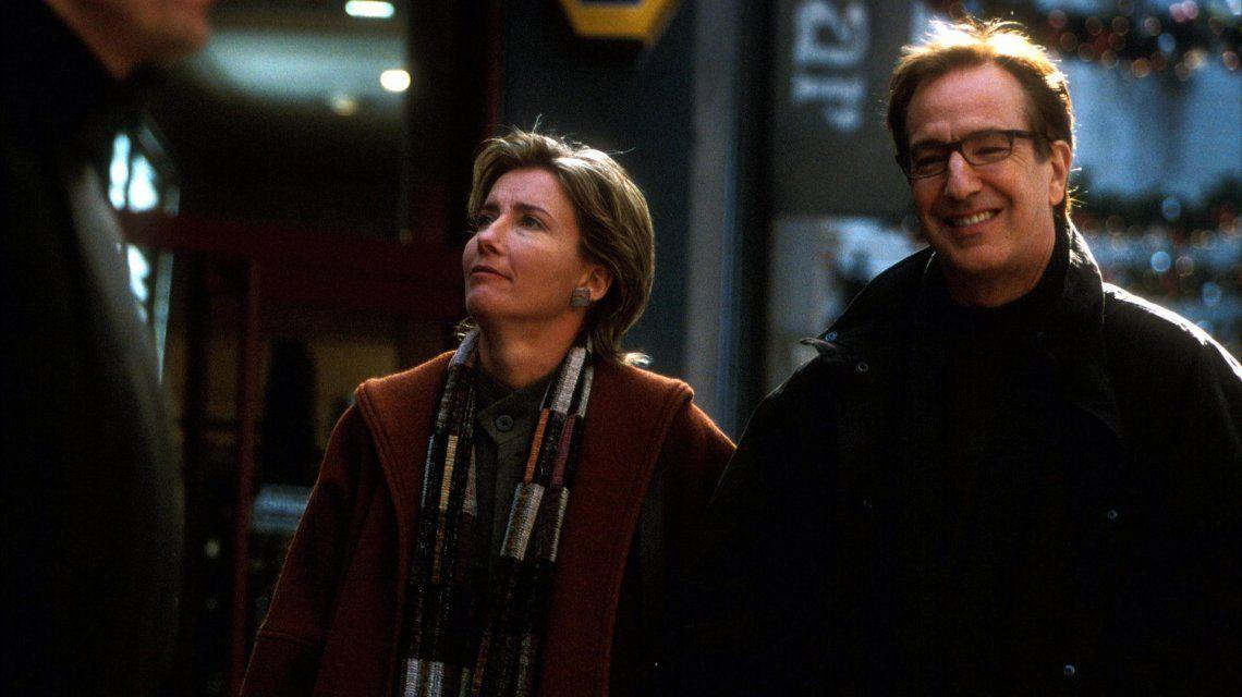 Karen (Emma Thompson) y su esposo Harry (Alan Rickman)