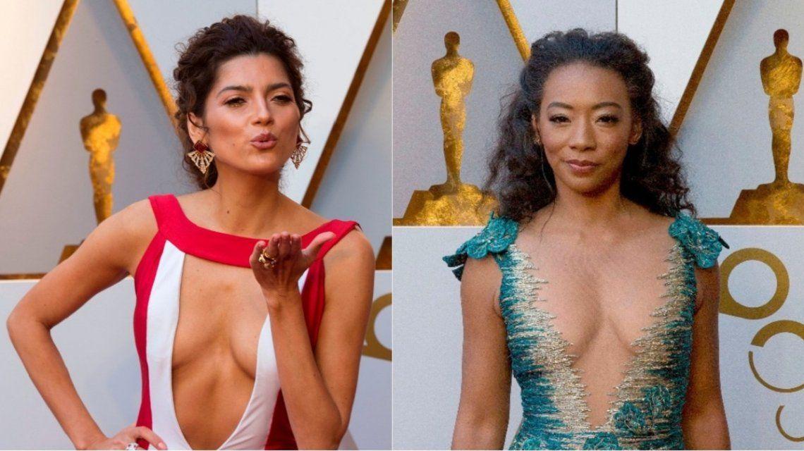 Los escotes de los premios Oscar