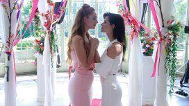 Jazmín y Flor en el día de su casamiento en Las Estrellas