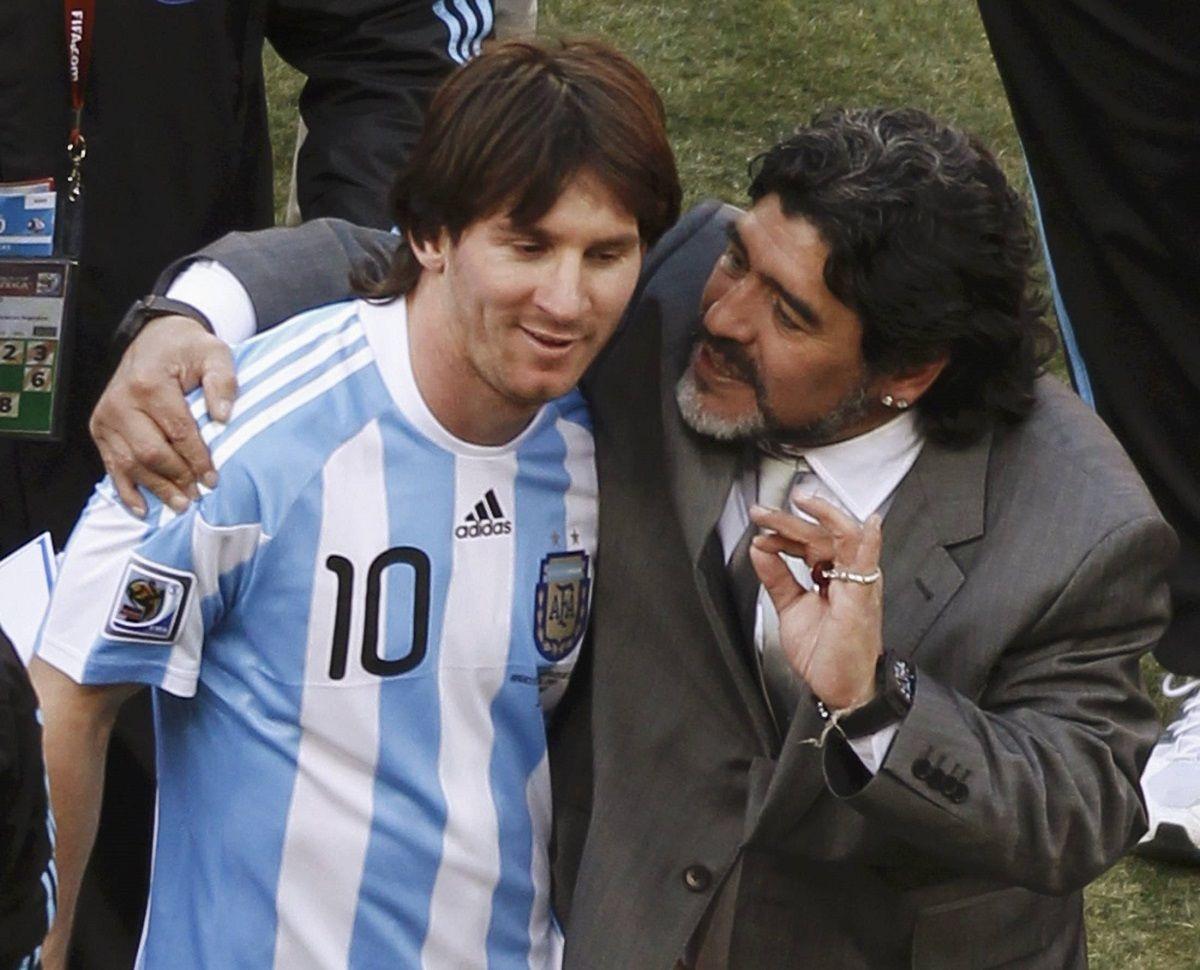 Diego Maradona saludó a Lionel Messi por el nacimiento de Ciro