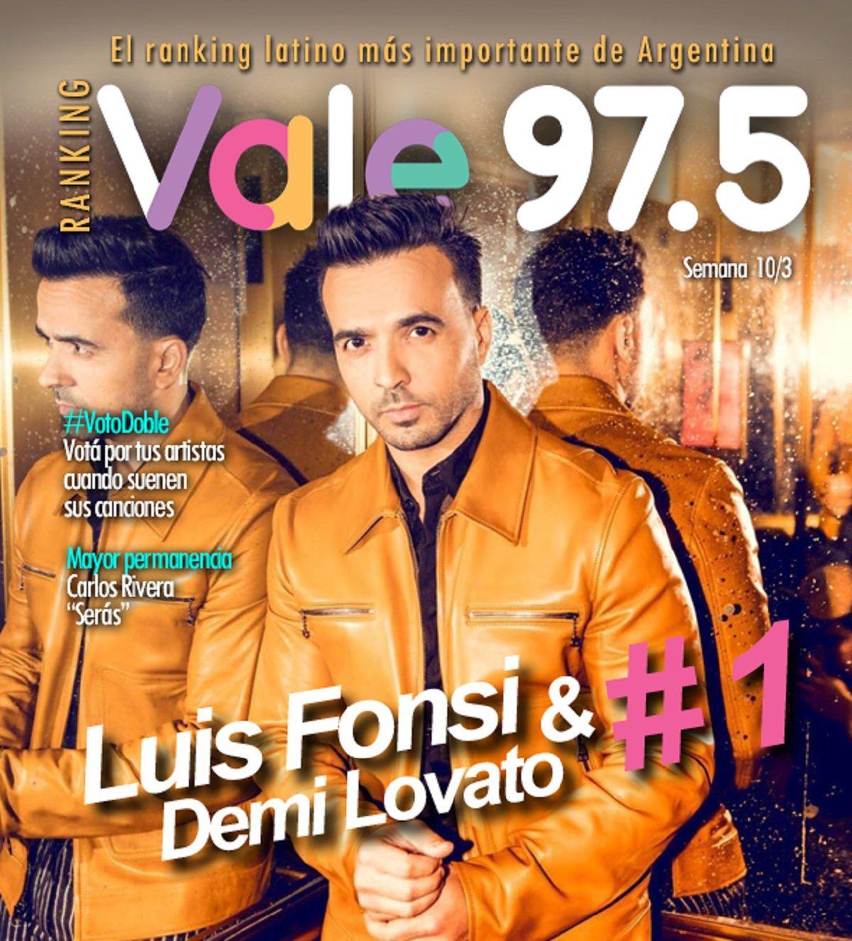 Luis Fonsi y Demi Lovato, reyes del Ranking Vale