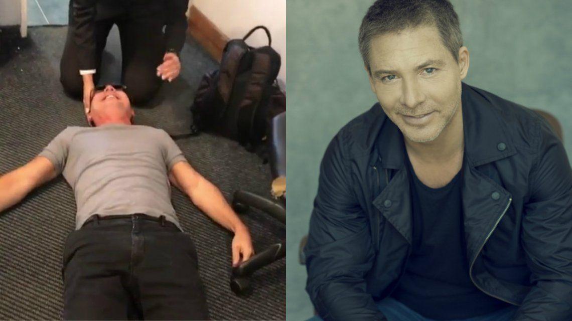 Adrián Suar y un susto en el aeropuerto