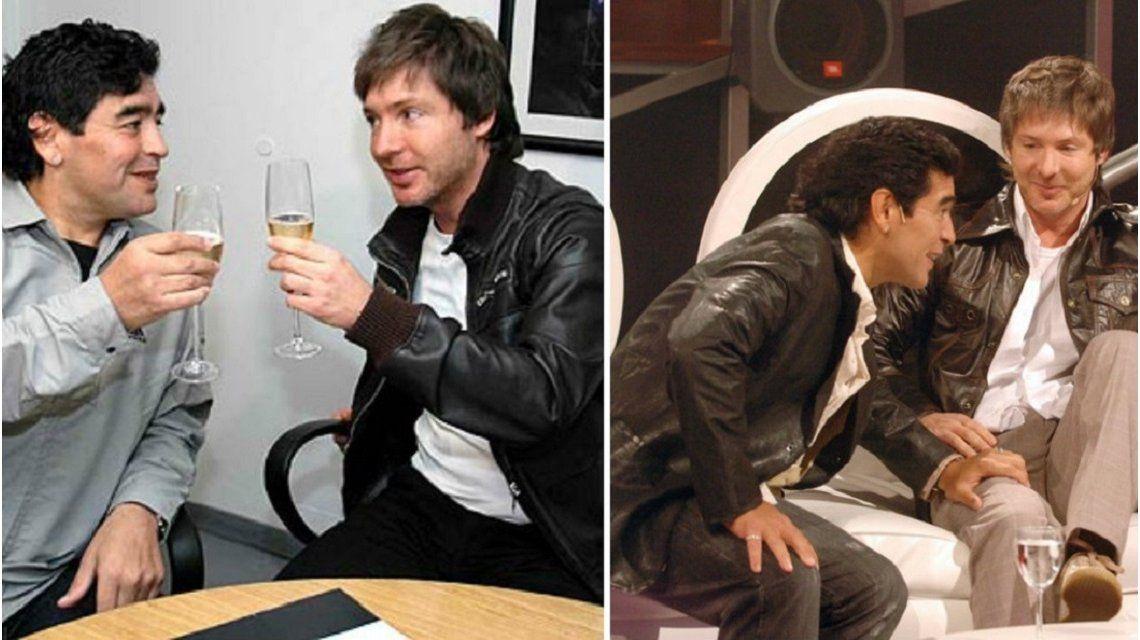 La desopilante anécdota de Adrián Suar con Diego Maradona cuando hacían La noche del 10