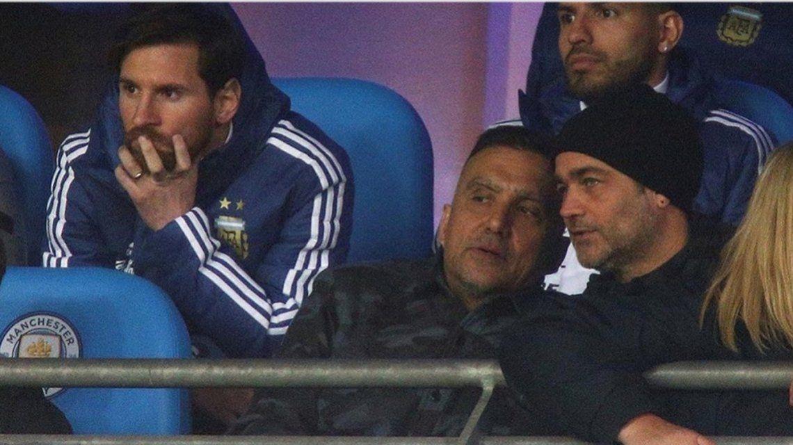 Gastón Pauls vio a la Selección junto a Messi y el Kun Agüero