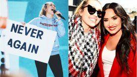 {alttext(Las celebridades en la marcha,#MarchForOurLives: celebrities expresan su apoyo a la marcha contra las armas en Estados Unidos)}
