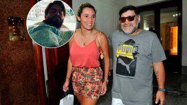 Maradona le envió un regalo a Nunzia y Diego Junior