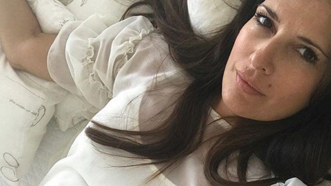 ¡Muy relajada! El look de entrecasa de Isabel Macedo, embarazada de siete meses