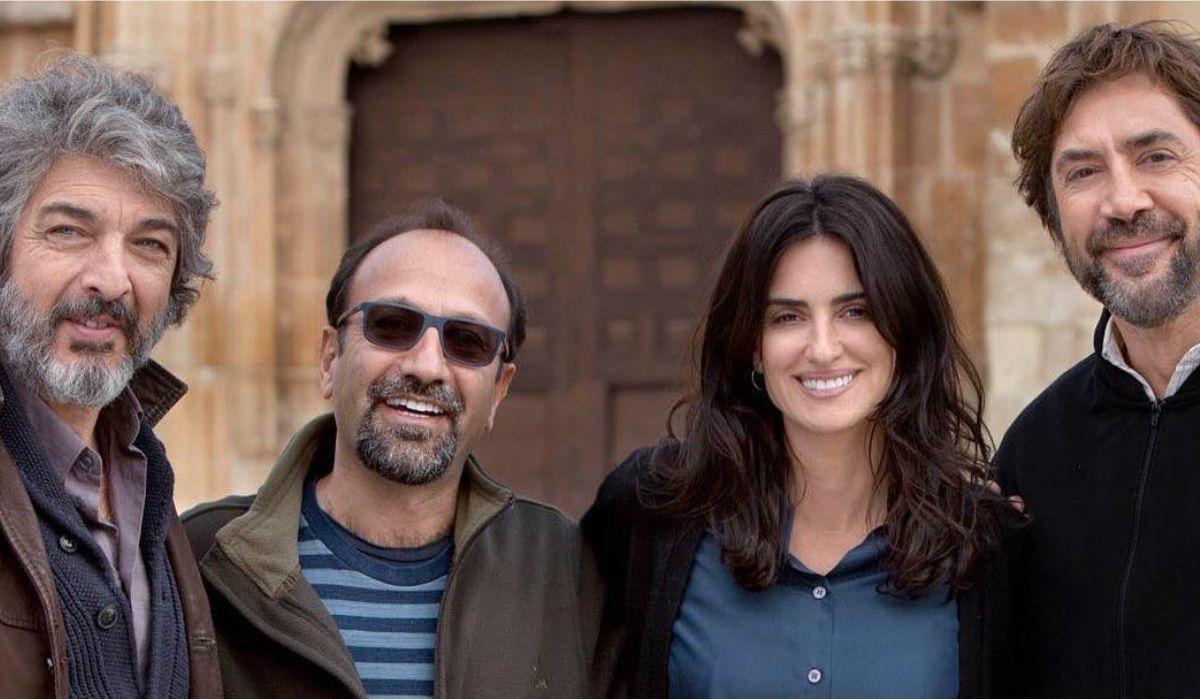 Ricardo Darín junto a Asghar Farhadi