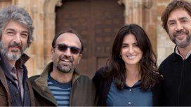 Ricardo Darín junto a Asghar Farhadi, Penélope Cruz y Javier Bardem