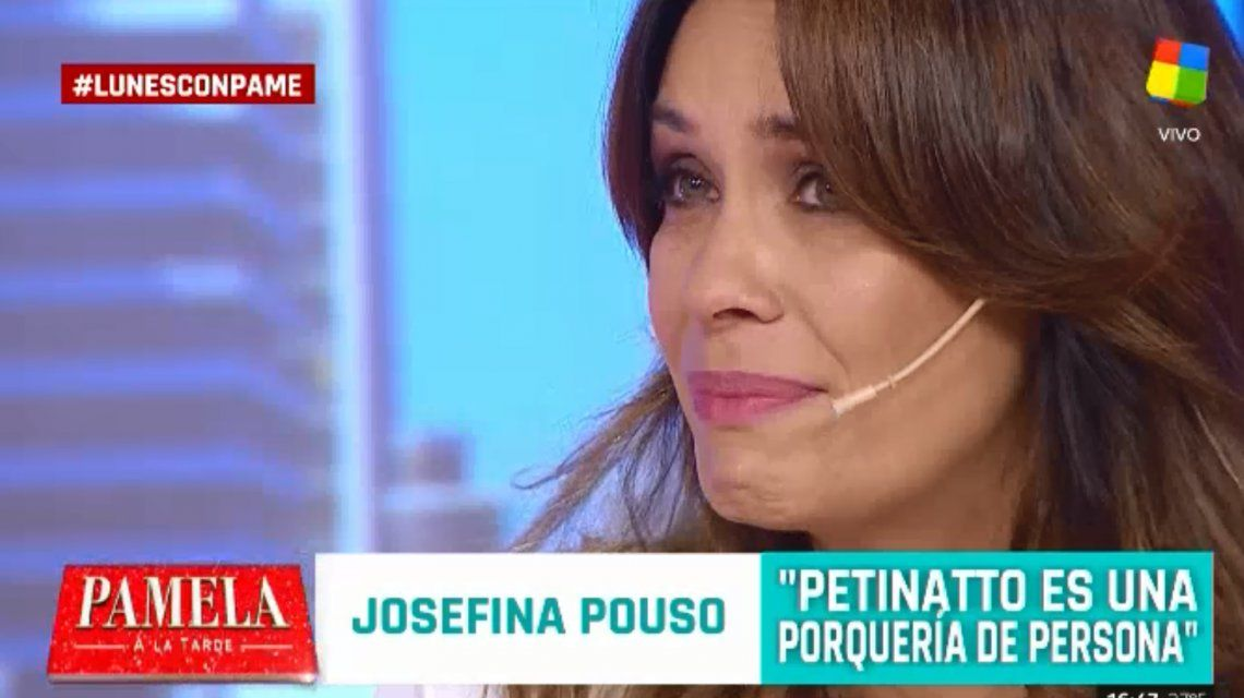 Josefina Pouso se quebró al hablar de Pettinato: Nos hizo mierda, es un psicópata