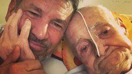 Conmovedoras fotos de Diego Díaz con su papá de 97 años: Decidió, con muchas fuerza, quedarse un tiempo más