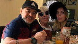 Fuerte descargo de Maradona contra Dalma y Claudia Villafañe
