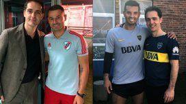 Pedro Alonso con Rodrigo Mora en River y Cardona en Boca