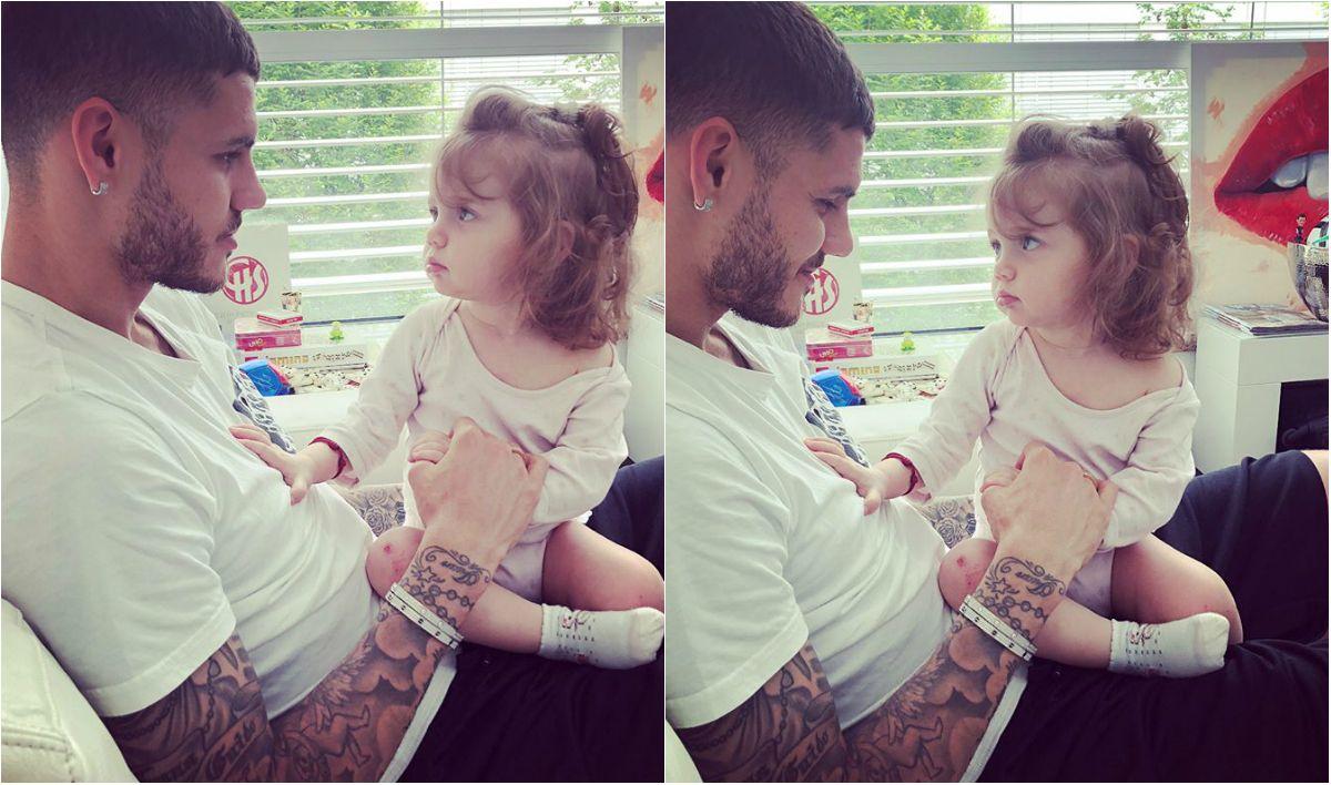 Icardi y su hija