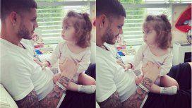 Icardi y su hija, miradas, risas y mimos