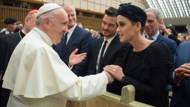 El Papa Francisco, Orlando Bloom y Katy Perry