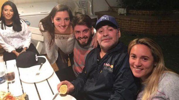 Diego Maradona y sus hijos