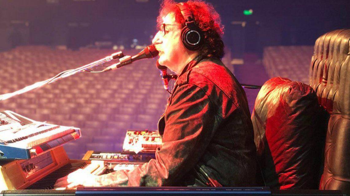 Charly García en la previa de su show en el Gran Rex