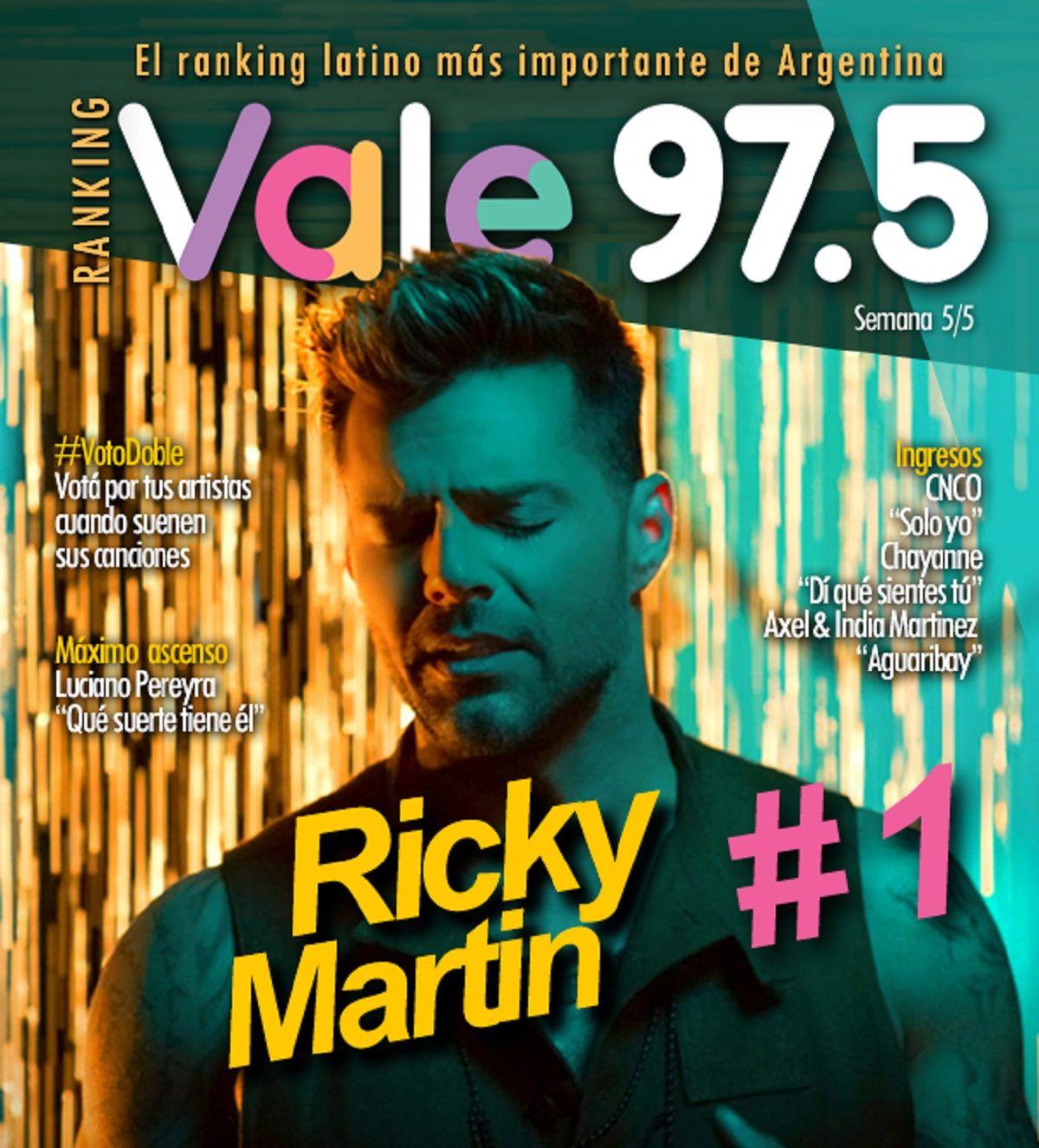 Ricky Martin sigue dominando el Ranking Vale