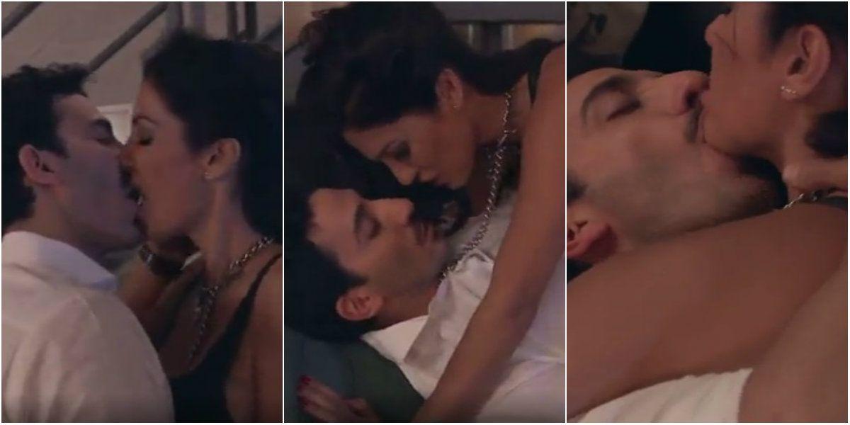 Silvina Escudero reapareció en la televisión con una escena caliente junto a Juan Minujín
