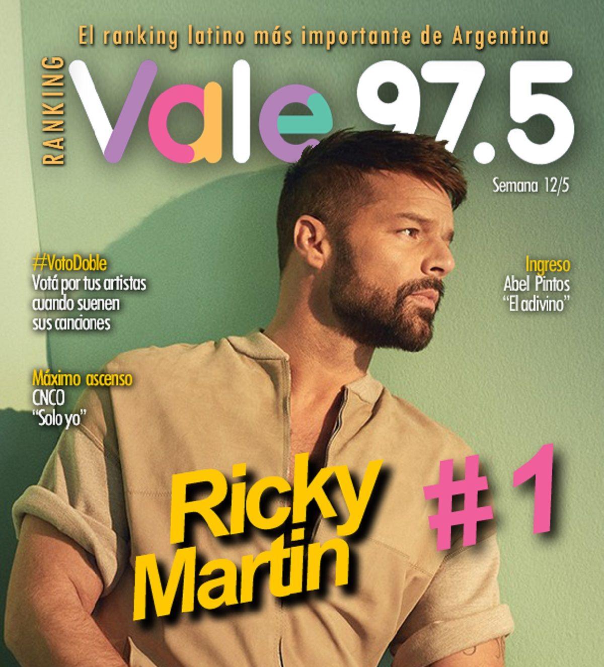 Nadie puede con Ricky Martin en el Ranking Vale