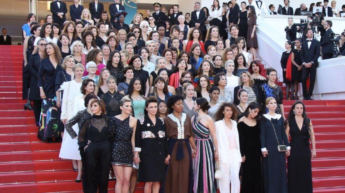 Tras la marcha de mujeres y actrices, el Festival de Cannes firmó una declaración feminista