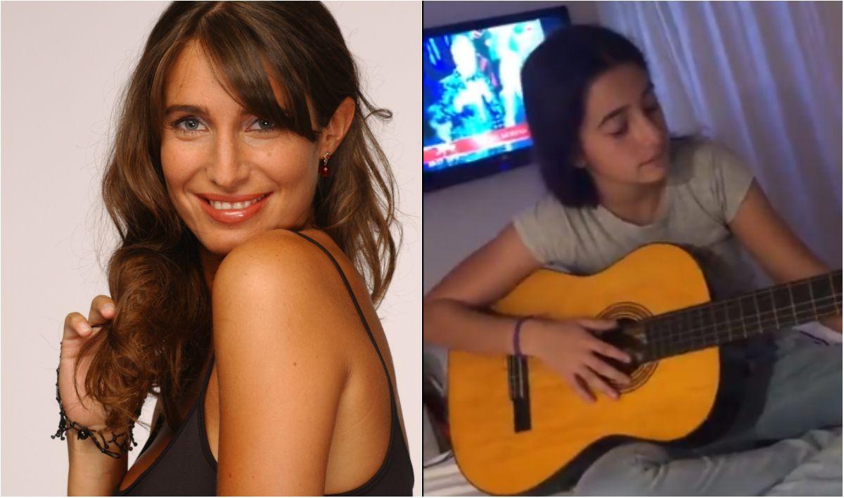 Azul, la hija de Romina Yan, canta y está muy parecida a su mamá