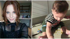 El novedoso método que usa Agustina Kämpfer para alimentara su hijo.