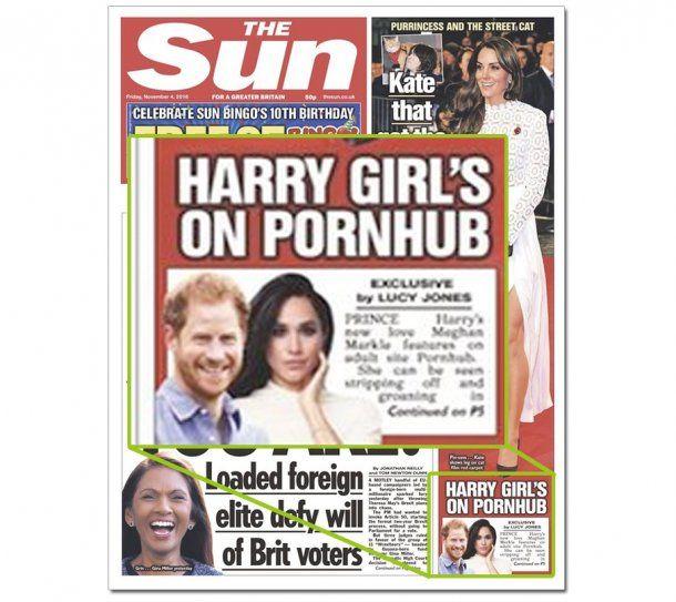 La portada de The sun que enfureció a Harry. <br>