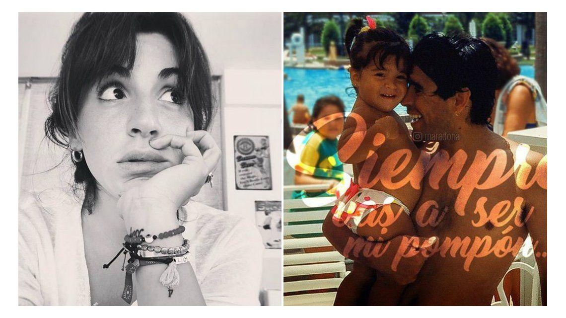 Diego Maradona le escribió a Gianinna una emotiva dedicatoria por su cumpleaños