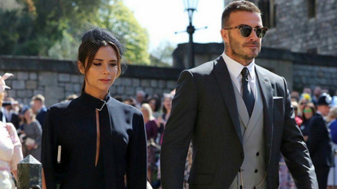 Victoria y David Beckham no pasaron desapercibidos en la boda real