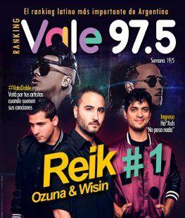 Reik, Ozuna y Wisin llegaron a la cima del Ranking Vale