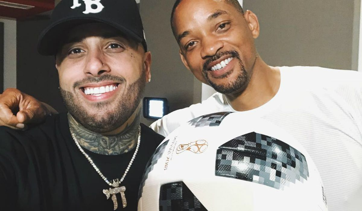 Nicky Jam junto a Will Smith