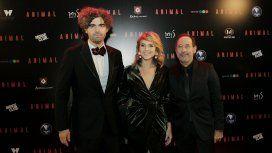 Armando Bo, Carla Peterson y Guillermo Francella en la presentación de Animal
