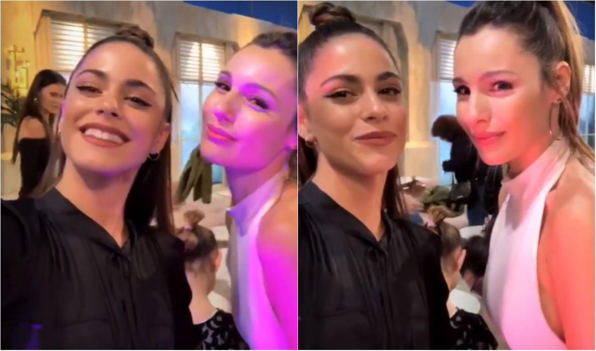 Pampita se animó a bailar en vivo con Tini Stoessel