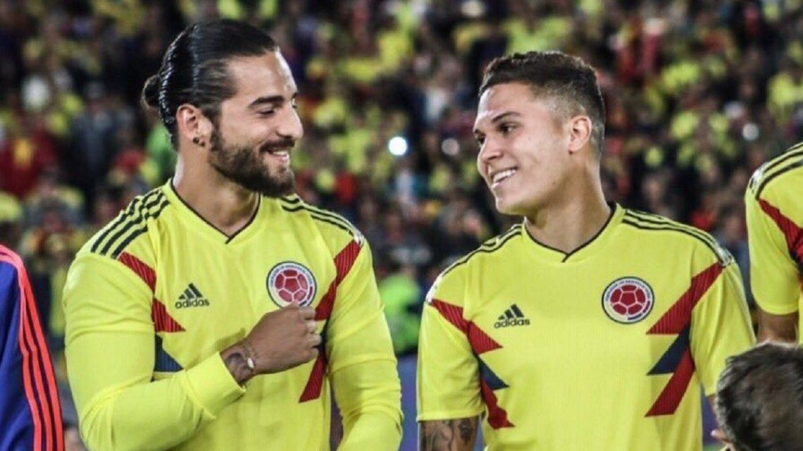 Maluma compartió un show para la selección colombiana con su hermano