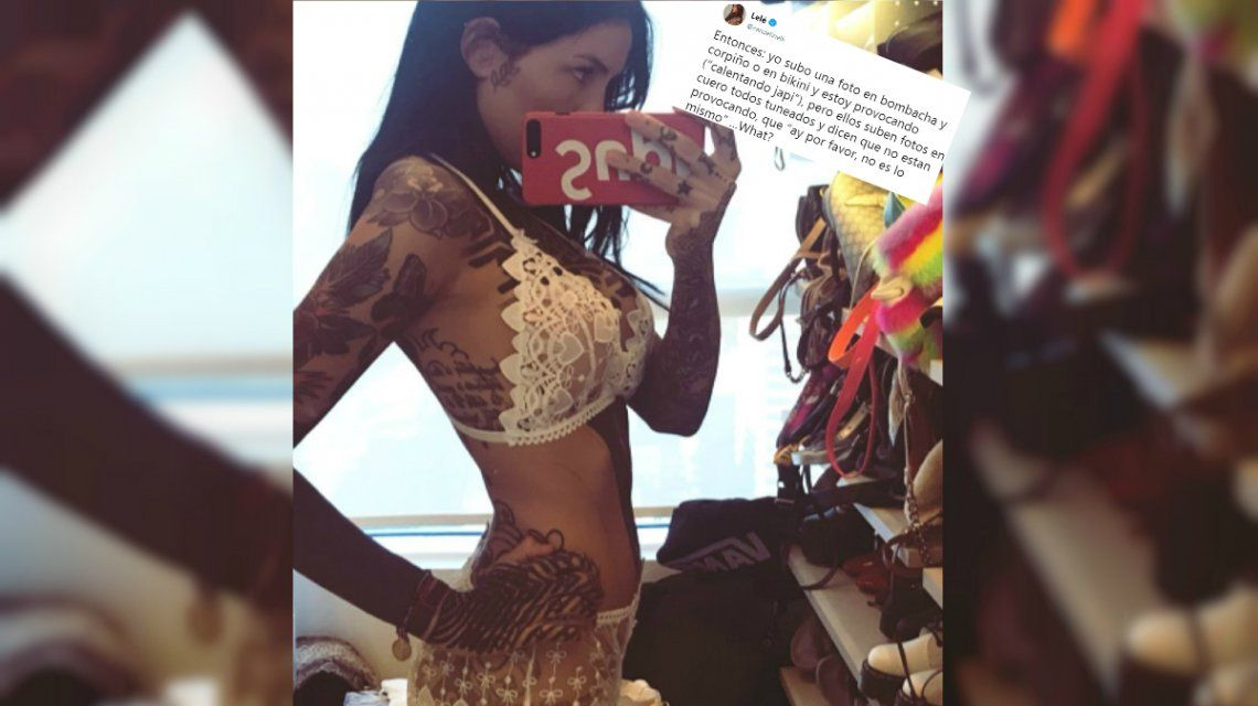 Cande Tinelli se mostró molesta por los comentarios sobre sus fotos en lencería