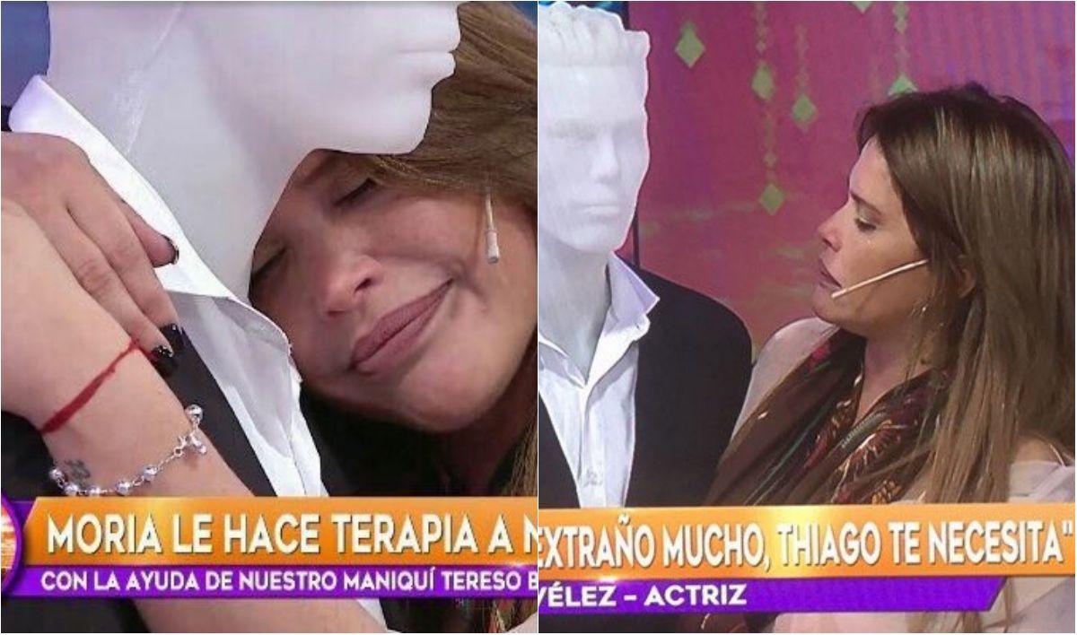Nazarena Vélez le habló a un maniquí como si fuese Fabián Rodríguez