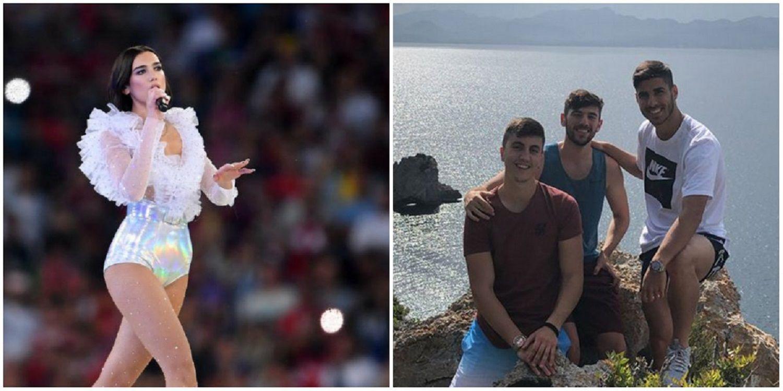 Dua Lipa niega un romance con el futbolista Marco Asensio y él se muestra con amigos