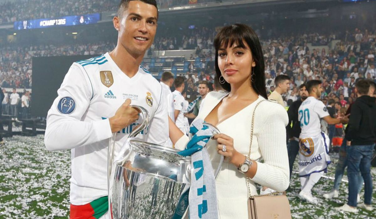 Cristiano y Georgina en la final de la Champions League