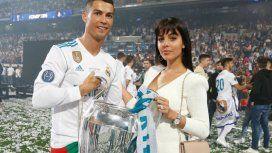 Cristiano y Georgina en la final de la Champions League