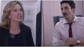 Dramática escena de Carla Peterson: furia y agresión contra Juan Minujín