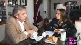 Alberto Fernández, en #RightNow: Este gobierno no nos integró a ningún lado