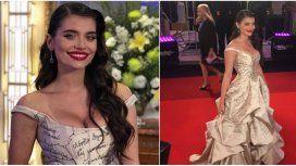 Aborto legal, educación sexual y libertad: las consignas del vestido de Eva de Dominici
