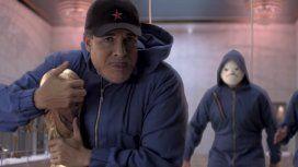 Martín Bossi como Maradona se roba la Copa del Mundo