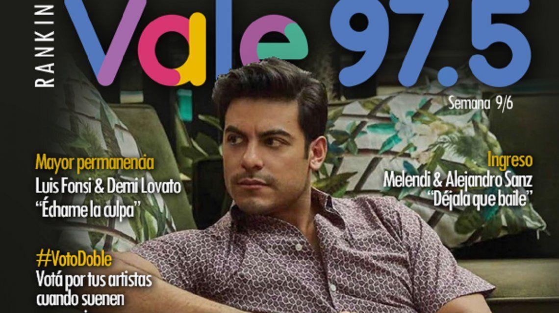 Carlos Rivera se mantiene en el puesto número uno del Ranking Vale