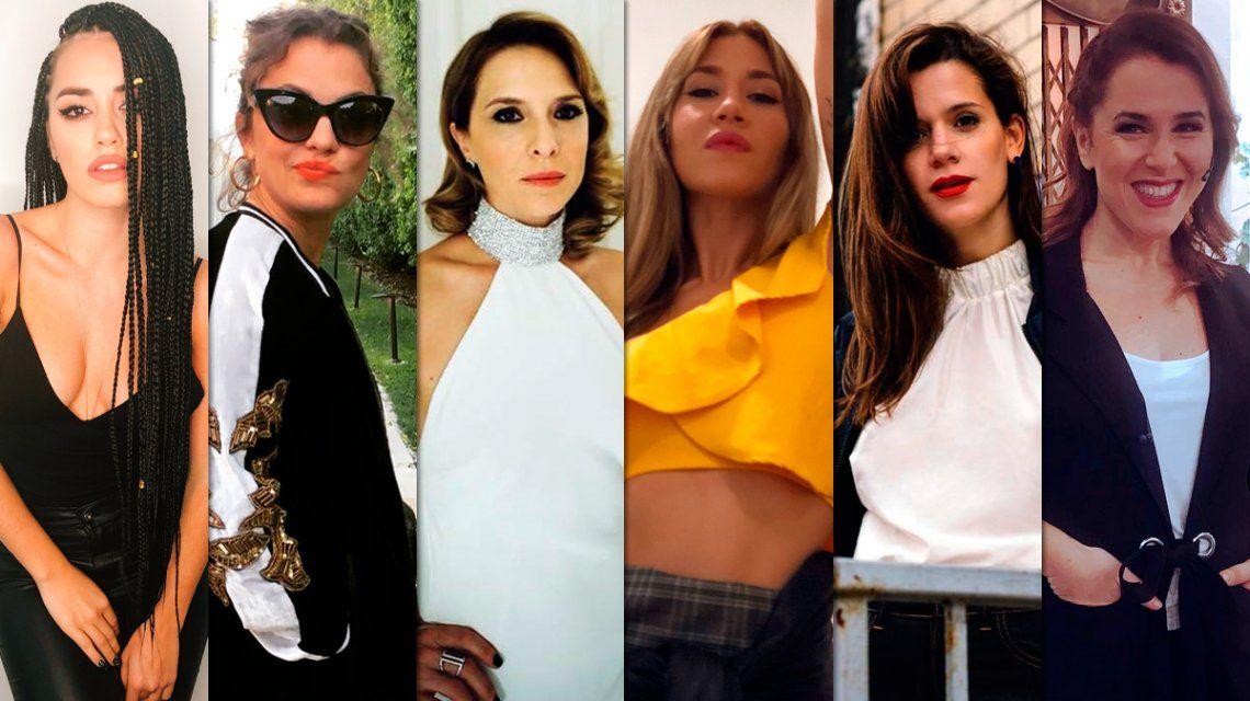Fuerte presencia de actrices y cantantes en las redes a horas del debate