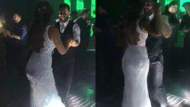 Lionel Messi y Antonela Roccuzzo, bailando cumbia